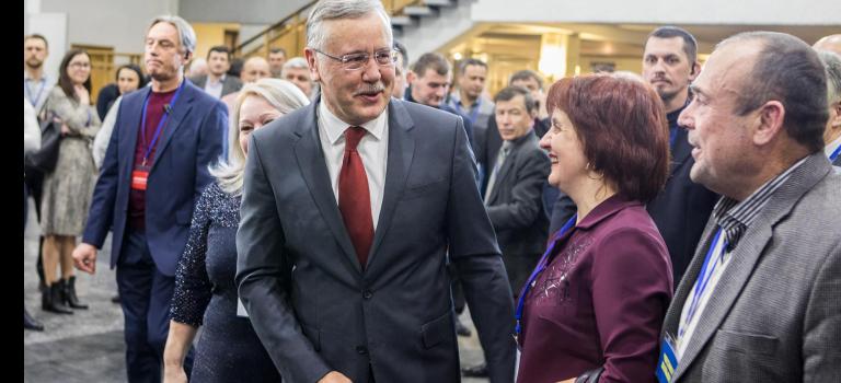 Кандидатов прибыло. Как Гриценко выдвигали в президенты — репортаж НВ