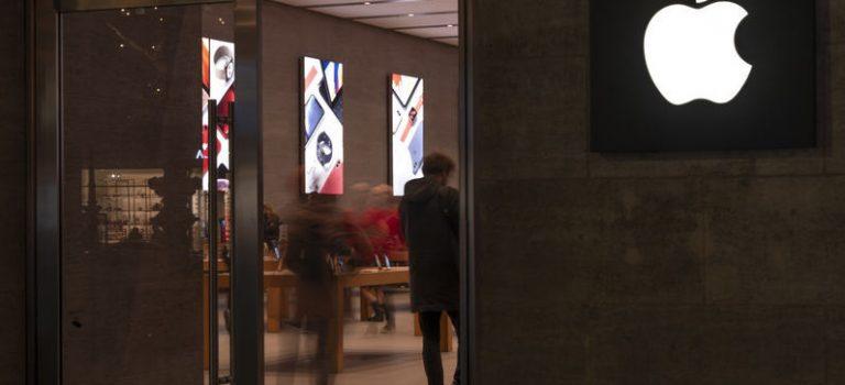 Акции Apple подешевели на 9%