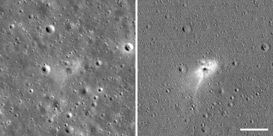 NASA показало место крушения аппарата Израиля на Луне: фото